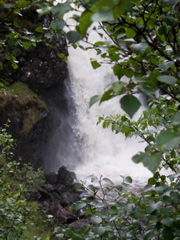 A waterfall on the Inverianvie river