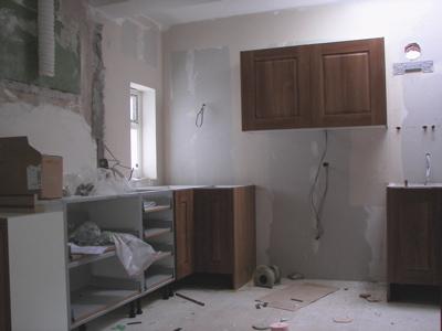 Our half-installed kitchen