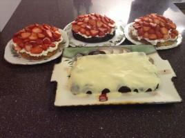 Zoe's four birthday cakes. Oops.