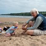 Grandma and Grandpa took Zoe to the beach at St Andrews…