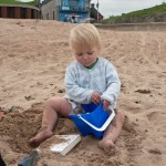 …and played in the sand.