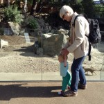 We went with Grandma and Grandpa to the zoo as well.